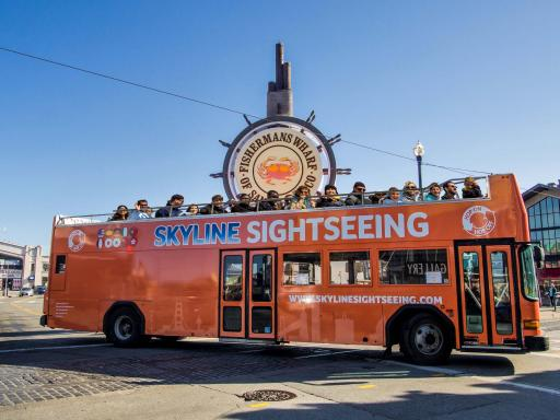 Hop-on Hop-Off Double Decker Bus Tour of San Francisco