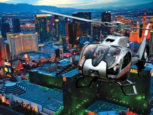 Las Vegas Strip Helicopter Night Flight