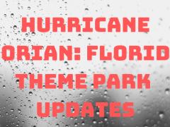 Hurrikan Dorian Florida Park Updates