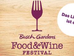 Das Busch Gardens Food & Wine Festival Line-Up ist da!