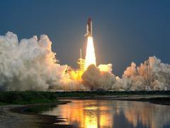 Raketenstart beim Kennedy Space Center