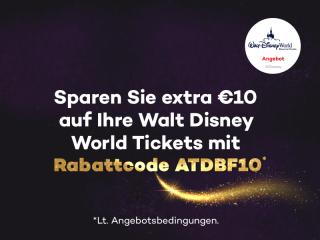 Cyber Monday Angebot: Sparen Sie extra €10 auf Ihre Walt Disney World Tickets