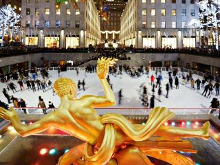 The Rink Rockefeller Center - Eislaufen und Apres Skate