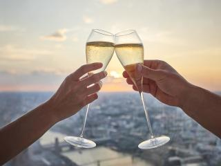 The View from The Shard mit Champagne Experience