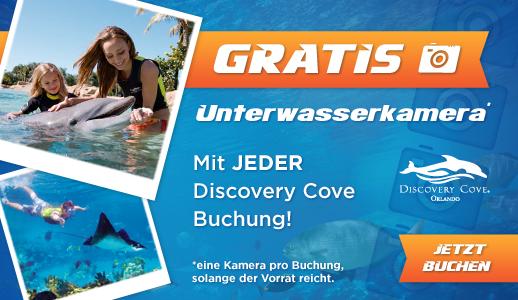 GRATIS Unterwasserkamera mit jeder Discovery Cove Buchung