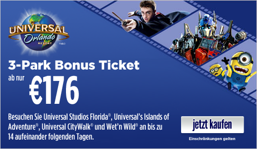 Universal 3-Park Bonus Ticket