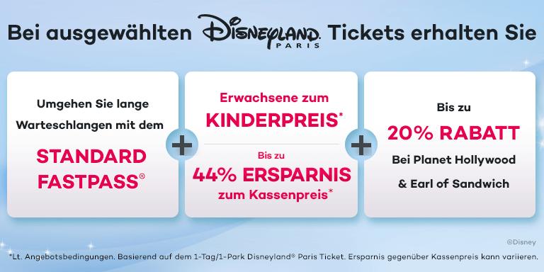 Disneyland® Paris - Erwachsene zum Kinderpreis