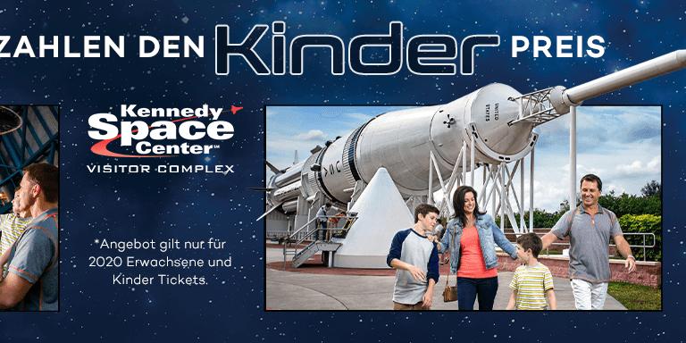 Kennedy Space Center - Erwachsene zum Kinderpreis