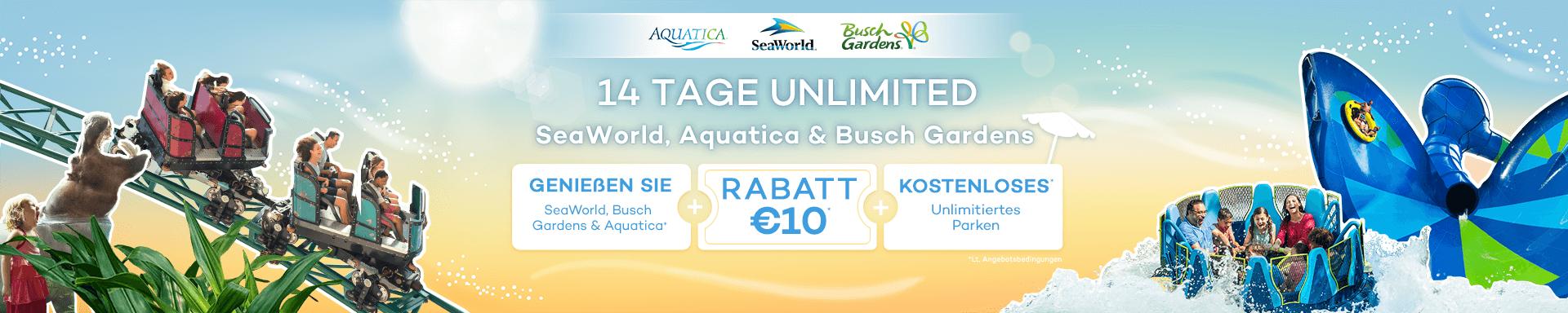14 Tage Eintritt + €10 Rabatt + GRATIS Parken