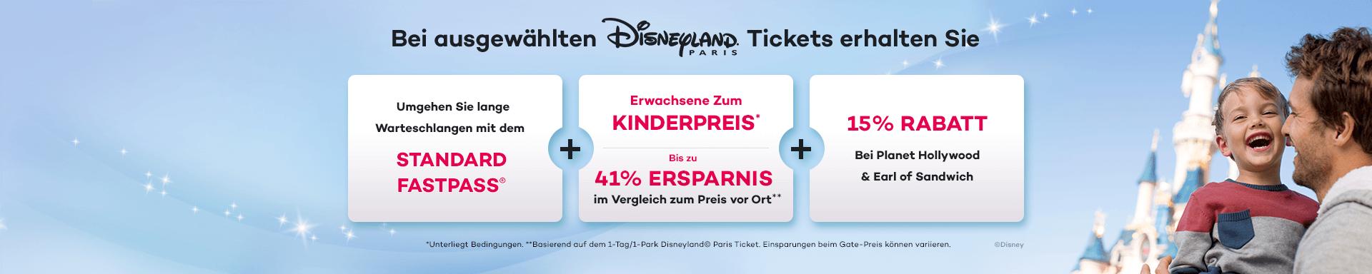 Sparen Sie bis zu 41% beim Kauf Ihres Disneyland Paris Tickets